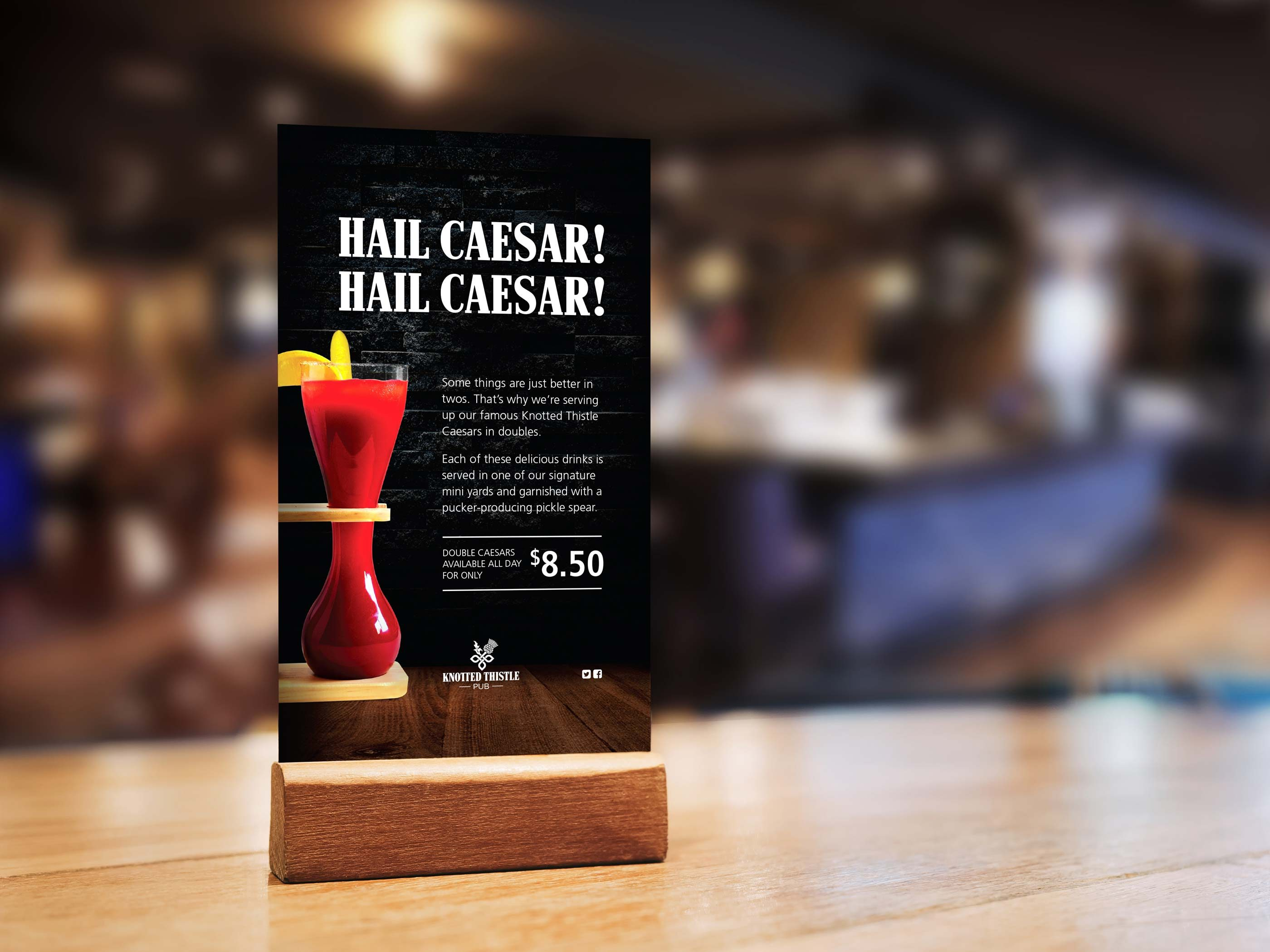 Work - Knotted Thistle Hail Caesar Table Card