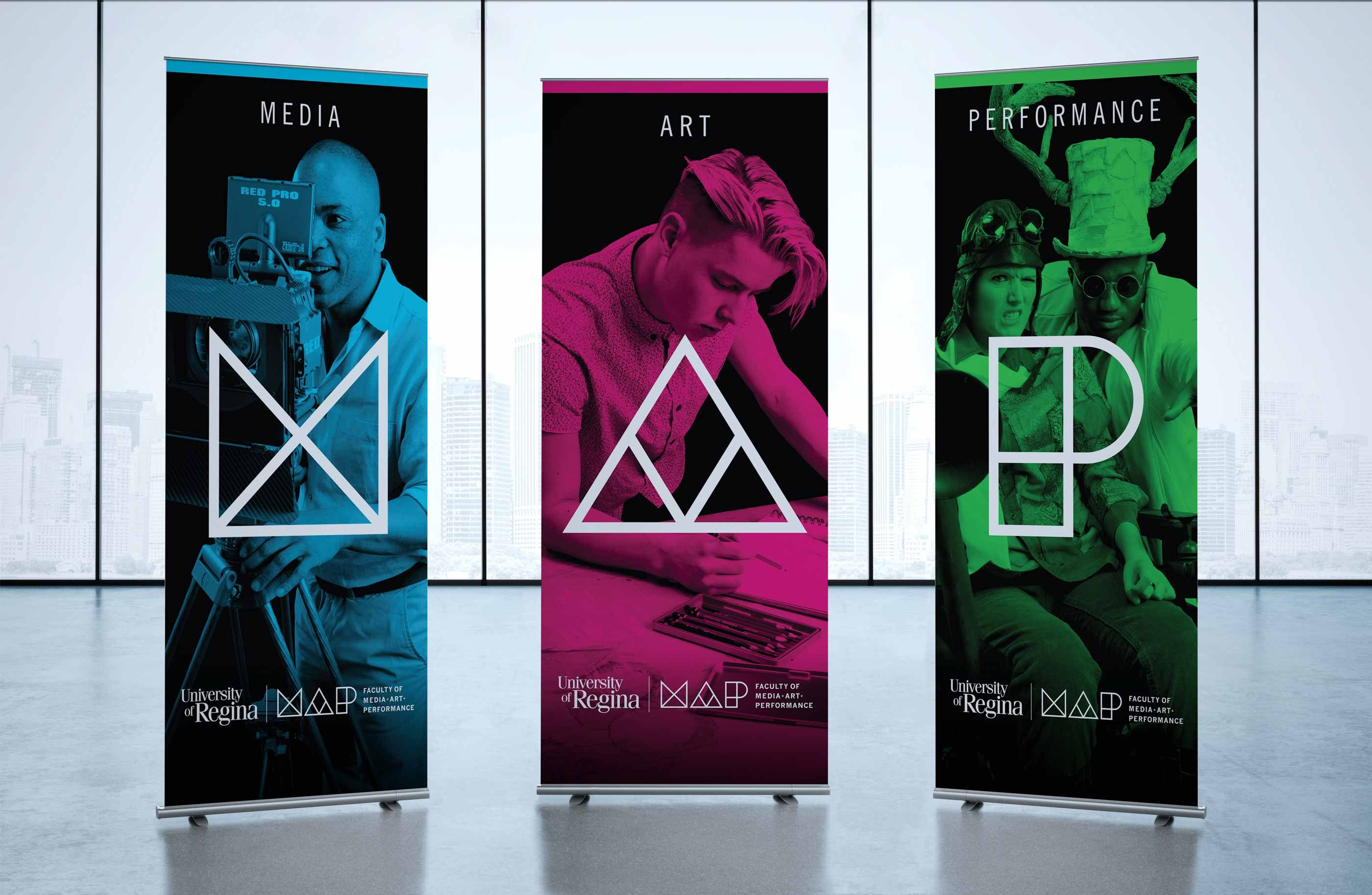 Work - MAP Pull Up Banners