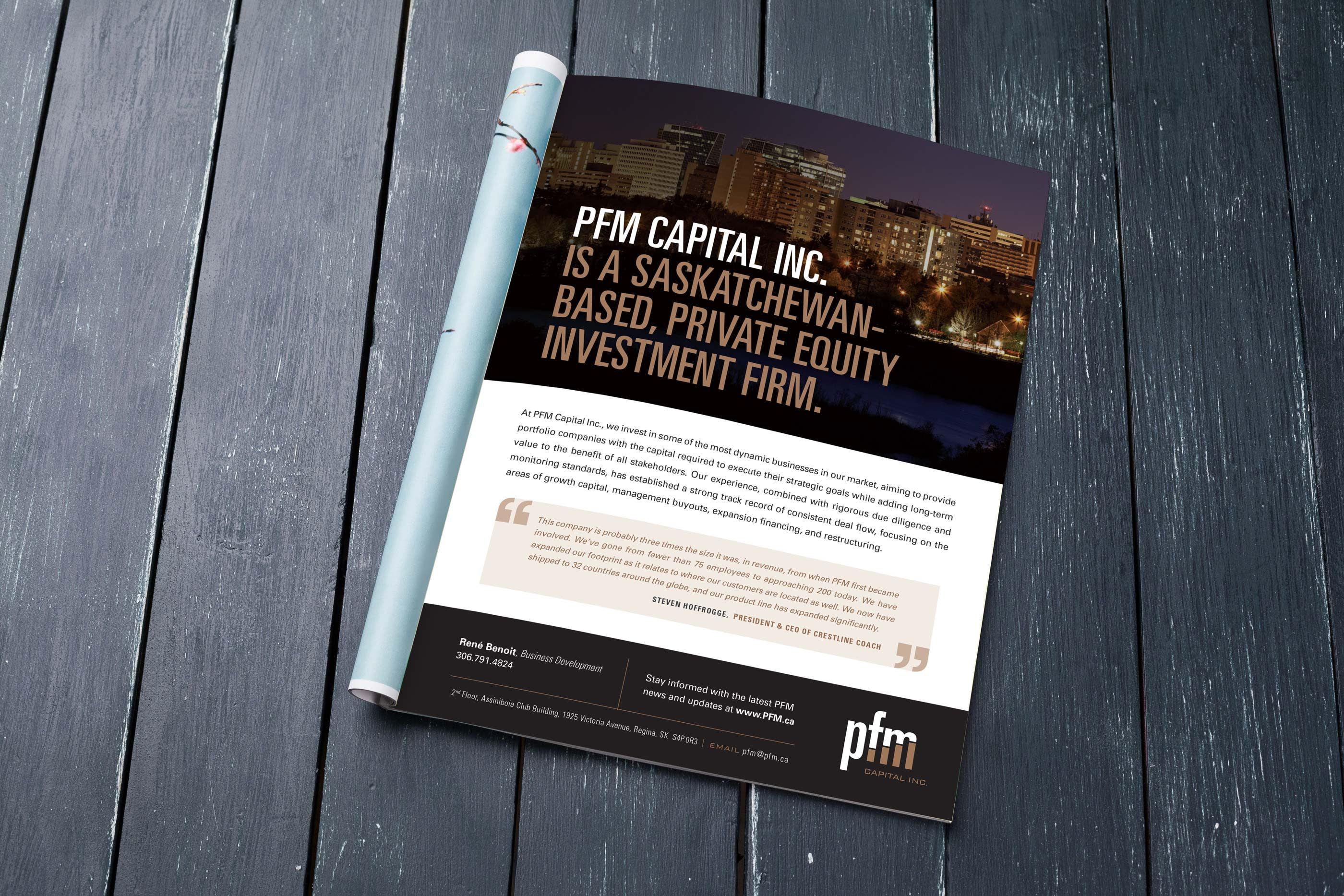 Work - PFM Magazine Ad