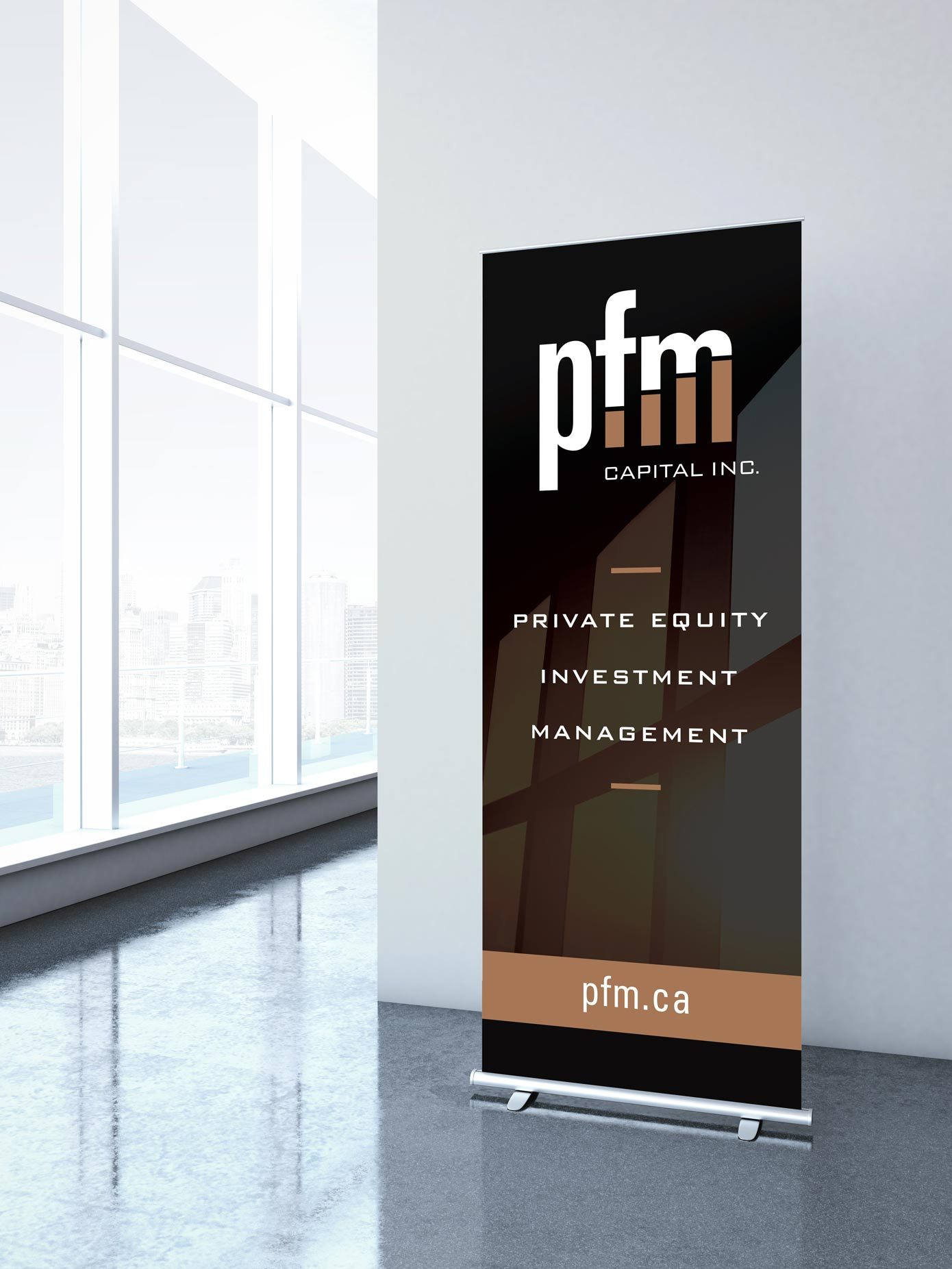 Work - PFM Pop Up Banner