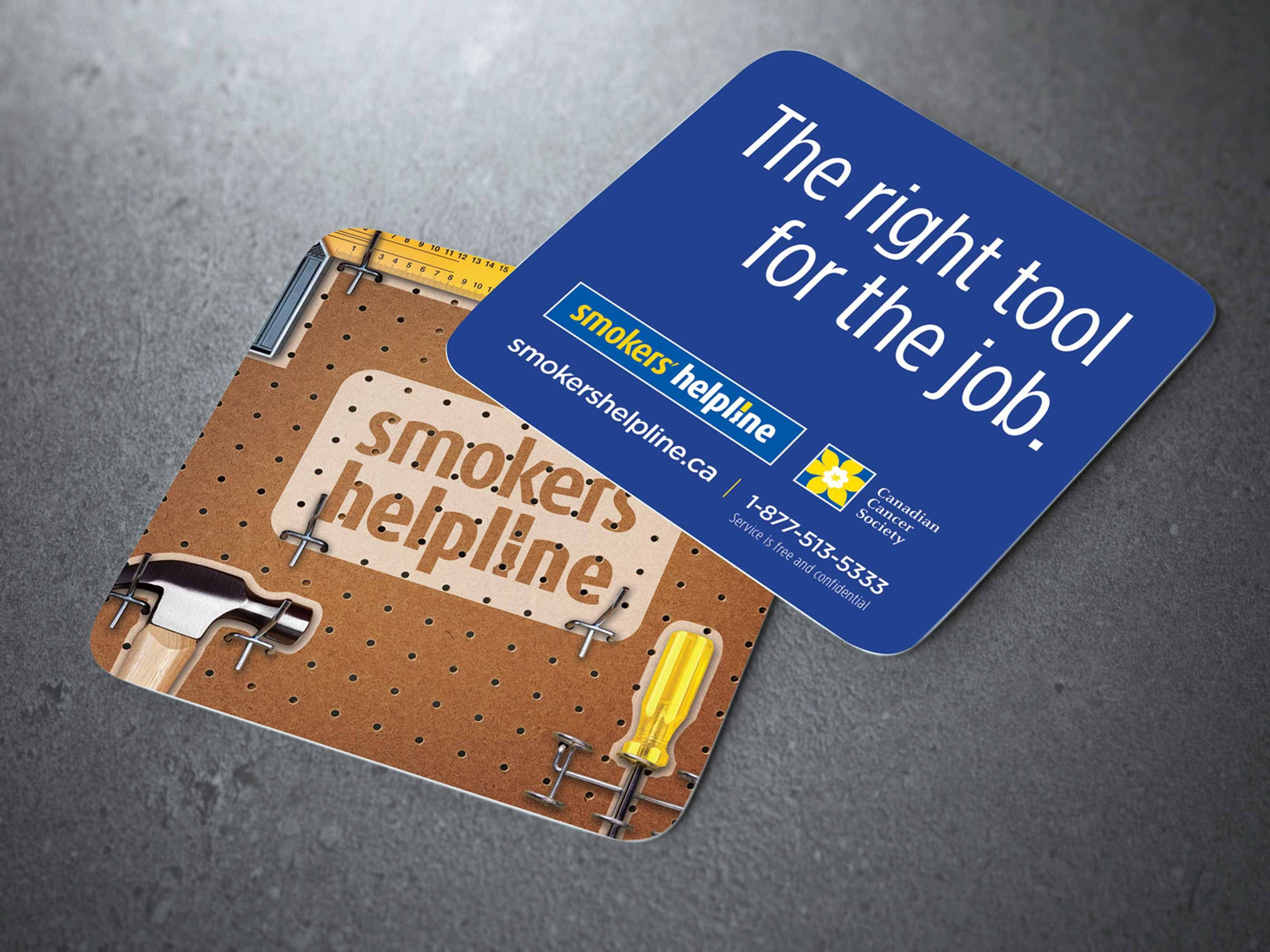 Work - Smokers' Helpline Coasters