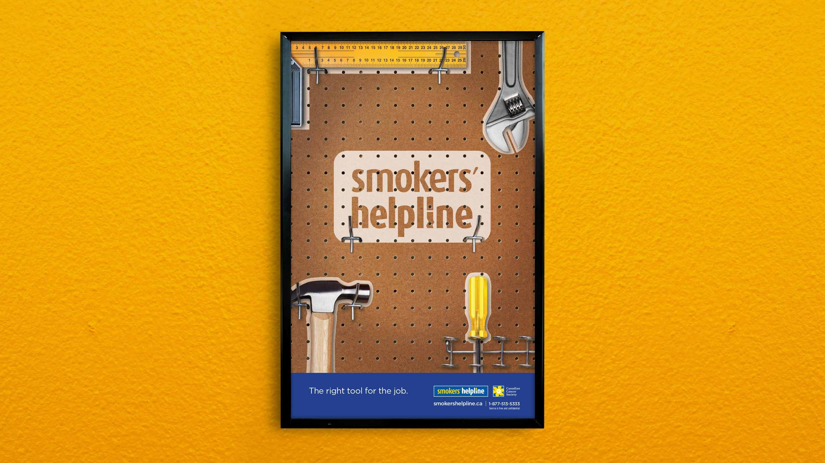 Work - Smokers' Helpline Poster