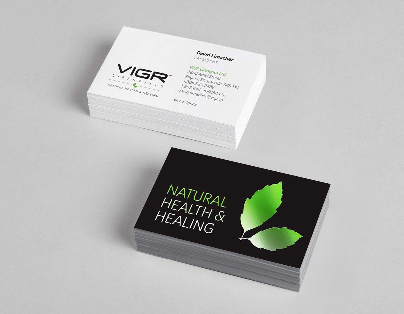 Work - VIGR Business Cards