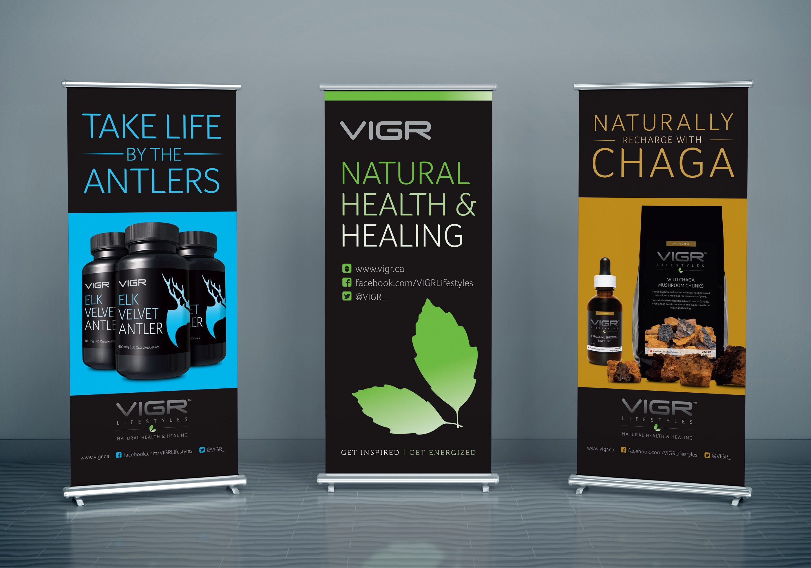 Work - VIGR Pop Up Banners