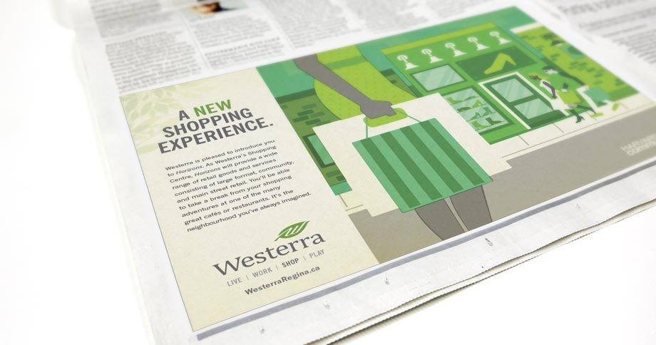 Work - Westerra Nespaper Ad Shop