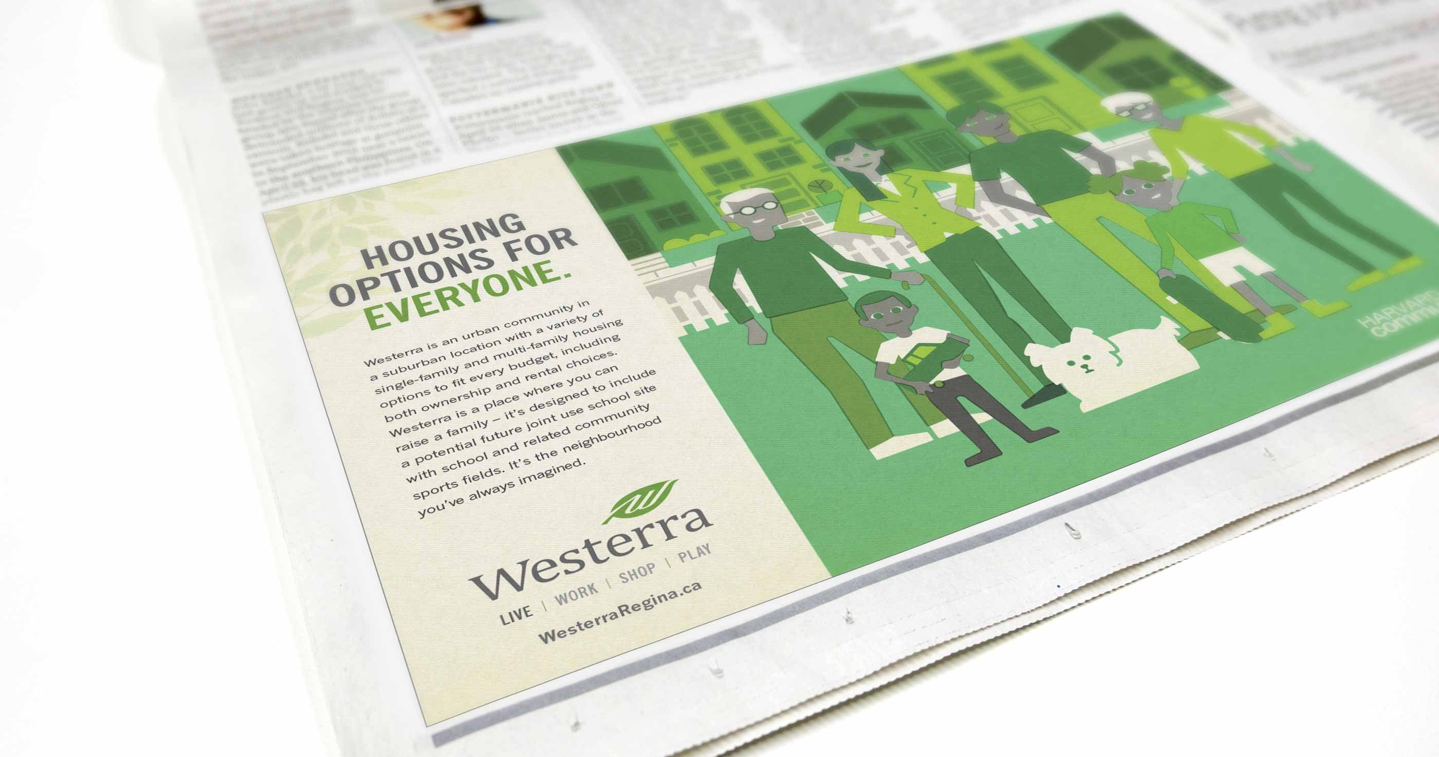 Work - Westerra Newspaper Ad Live